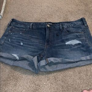 NWOT distressed jean shorts